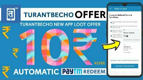 (Expired) TurantBecho App - Get Rs. 10 Paytm Cash For Each Refers (Don't Try Now)
