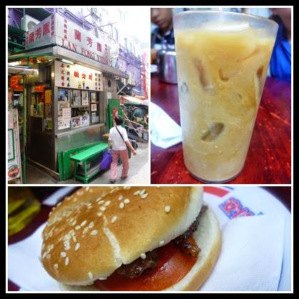 蘭芳園(老店):【香港】香港三日鐵腳自由行Day1,香港大牌檔的震撼教育-蘭芳園豬扒包