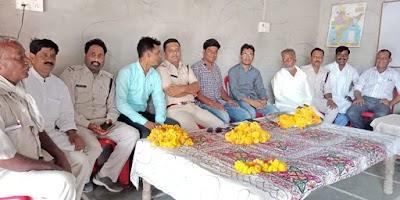 खोड़ के मुस्लिम समुदाय के लोगों ने किया भौती थाना प्रभारी का सम्मान