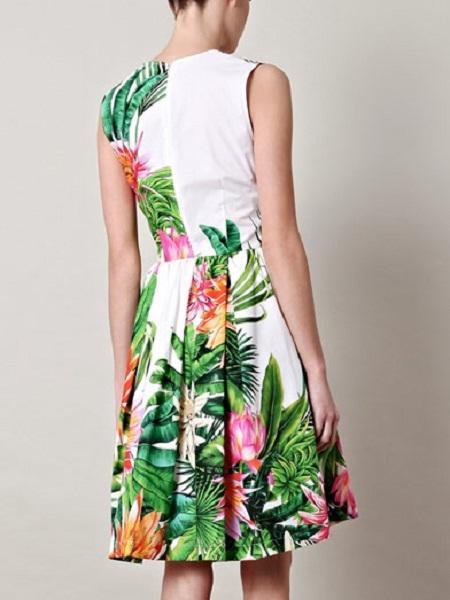 Inspiração estampa tropical - vestido