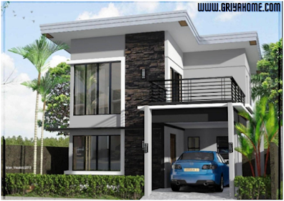 Desain Rumah Minimalis 2 Lantai 6x12.