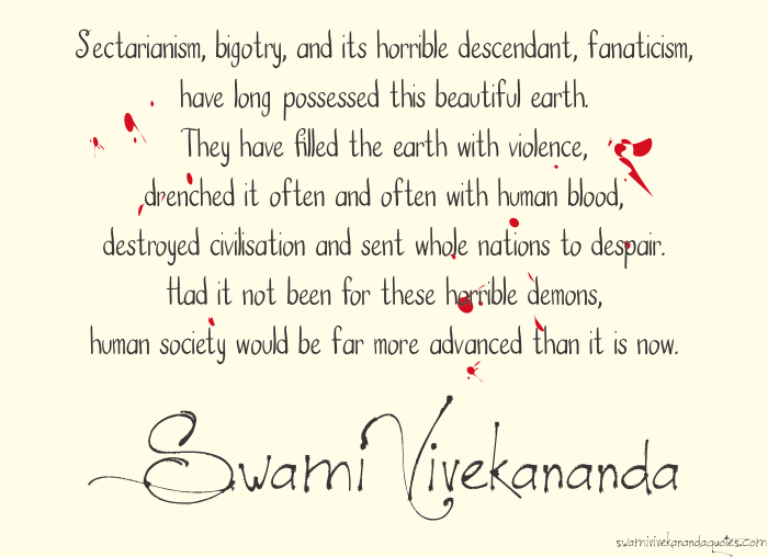 Swami Vivekananda Quotes on fanaticism