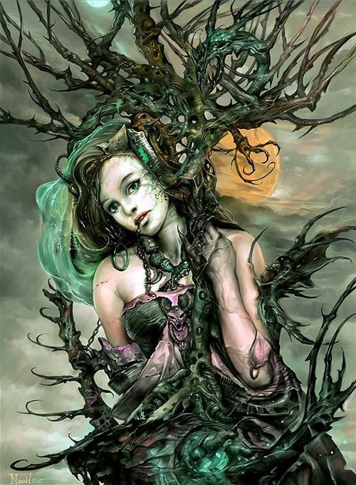 Green Witch In Chains, Green Witches