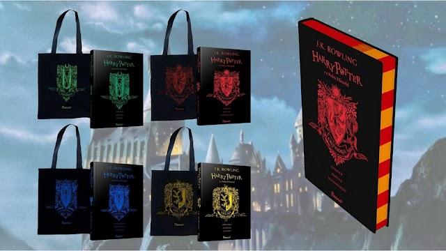 Review Livro de Harry Potter com capa das Casas de Hogwarts com Ecobag exclusiva