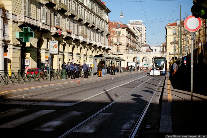 На железнодорожном вокзале Турина
