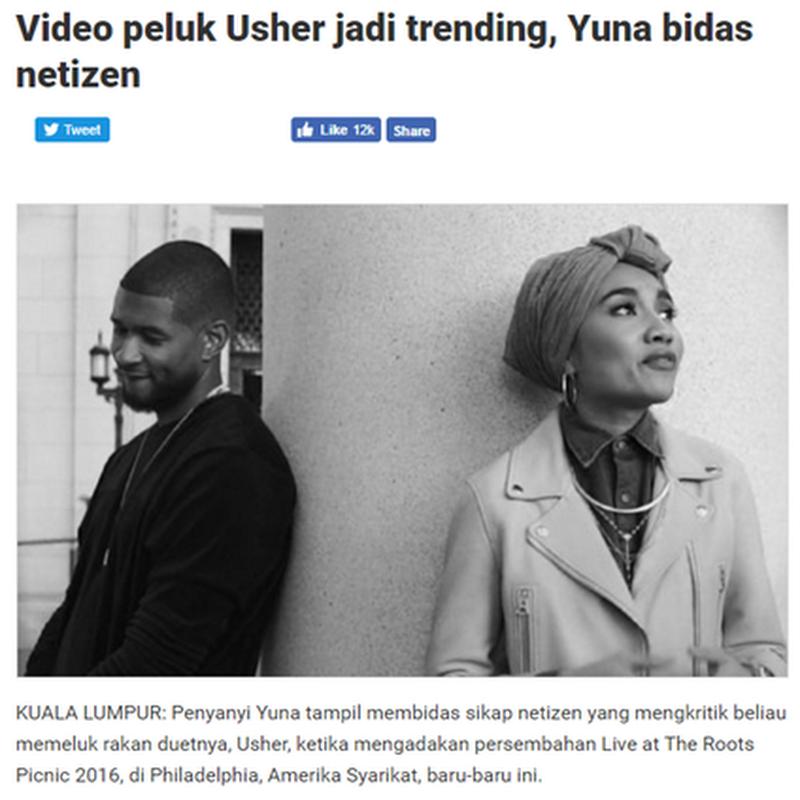 Isu Yuna peluk Usher , aku tak amik tau tapi…