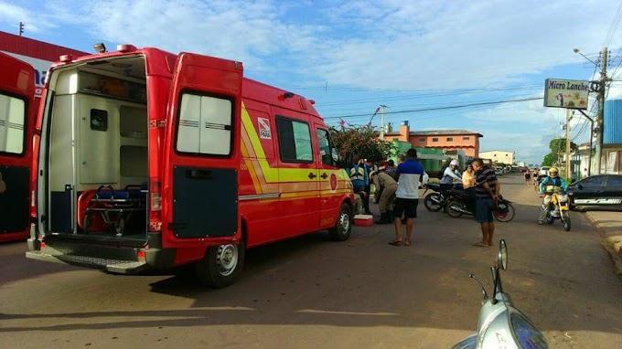 Acidente registrado no trânsito Itaitubense deixa vítima ferida.