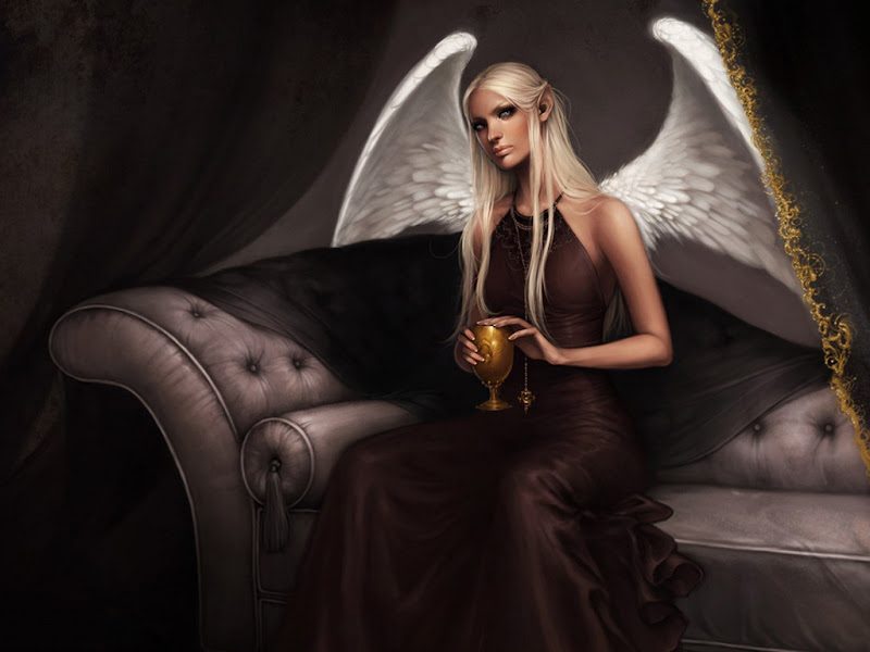 Angel In Dark Boudoir, Angels