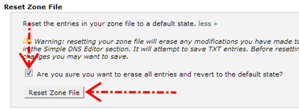 Melakukan reset zone file