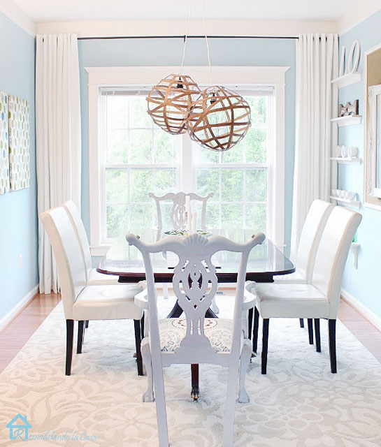 summer vibes in the dining room