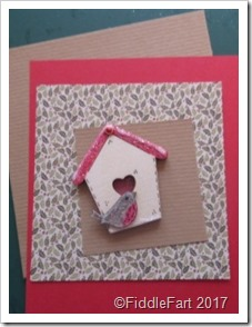 Christmas Robin Birdhouse Card