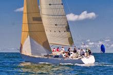 J/44 sailing upwind off American YC