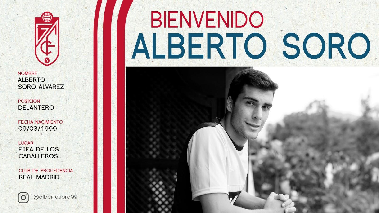 OFICIAL: Alberto Soro ficha por el Granada CF