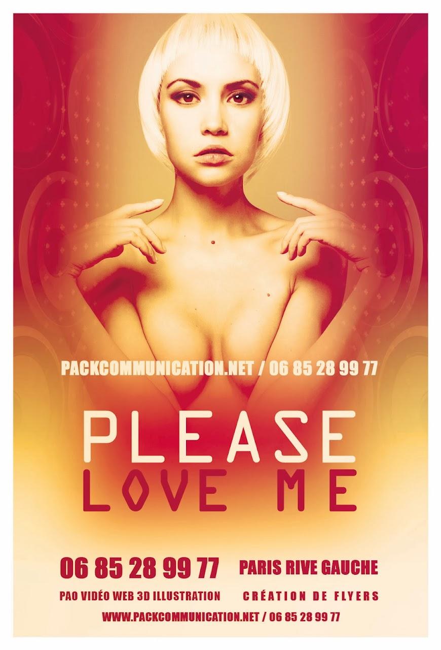 création flyers soirées thème Please Love Me