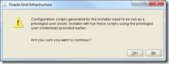 Oracle Grid Infrastructure 12c Installer - Confirm Script Execution