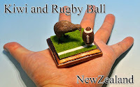 Kiwi & Rugby Ball -New Zealand-