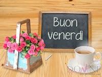 buon venerdi immagine con frase aforisma vaso cestino fiori tazza caffe lavagna.jpg