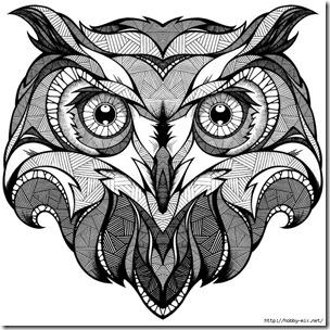 dibujos de buhod en blanco y negro (9)