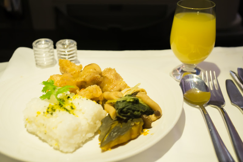 Malaysia airline, dinning, business class 4
