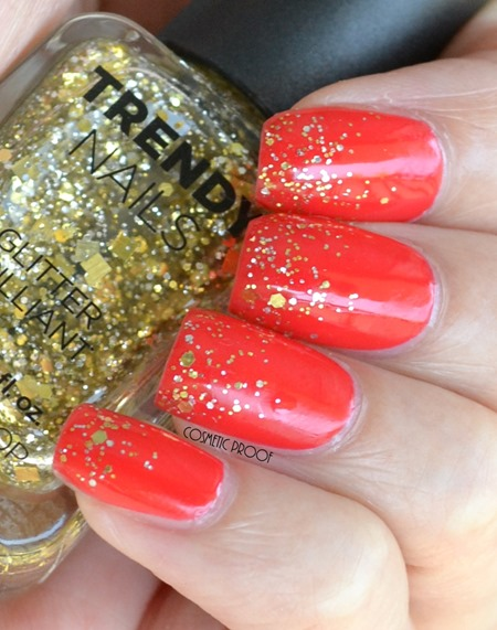 The Face Shop Nail Polish in RD301 with GLI027 Swatch and Review (4)