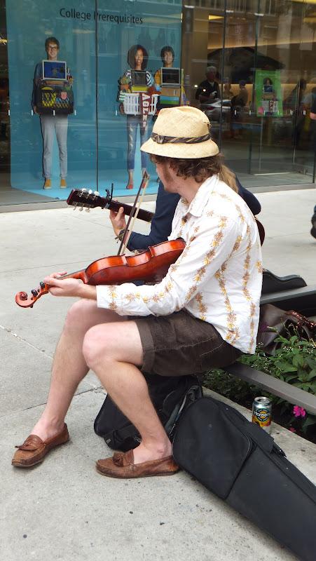 Músicos callejeros en la Milla Magnífica, Chicago