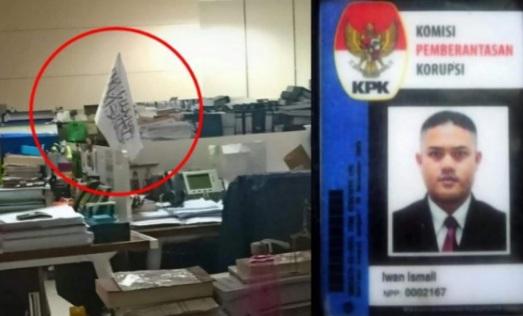 Satpam KPK Dipecat Gegara Memotret Bendera Mirip HTI di Meja Pegawai, Terungkap Usai Novel Cs Keluar