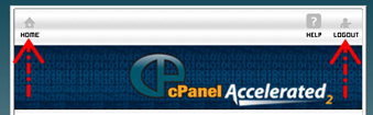 tombol home cpanel