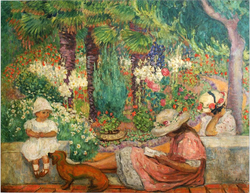 Henri Lebasque - In the Palms at Sainte Maxime