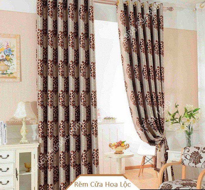 Rèm phòng khách đẹp hà nội họa tiết thanh lịch 10