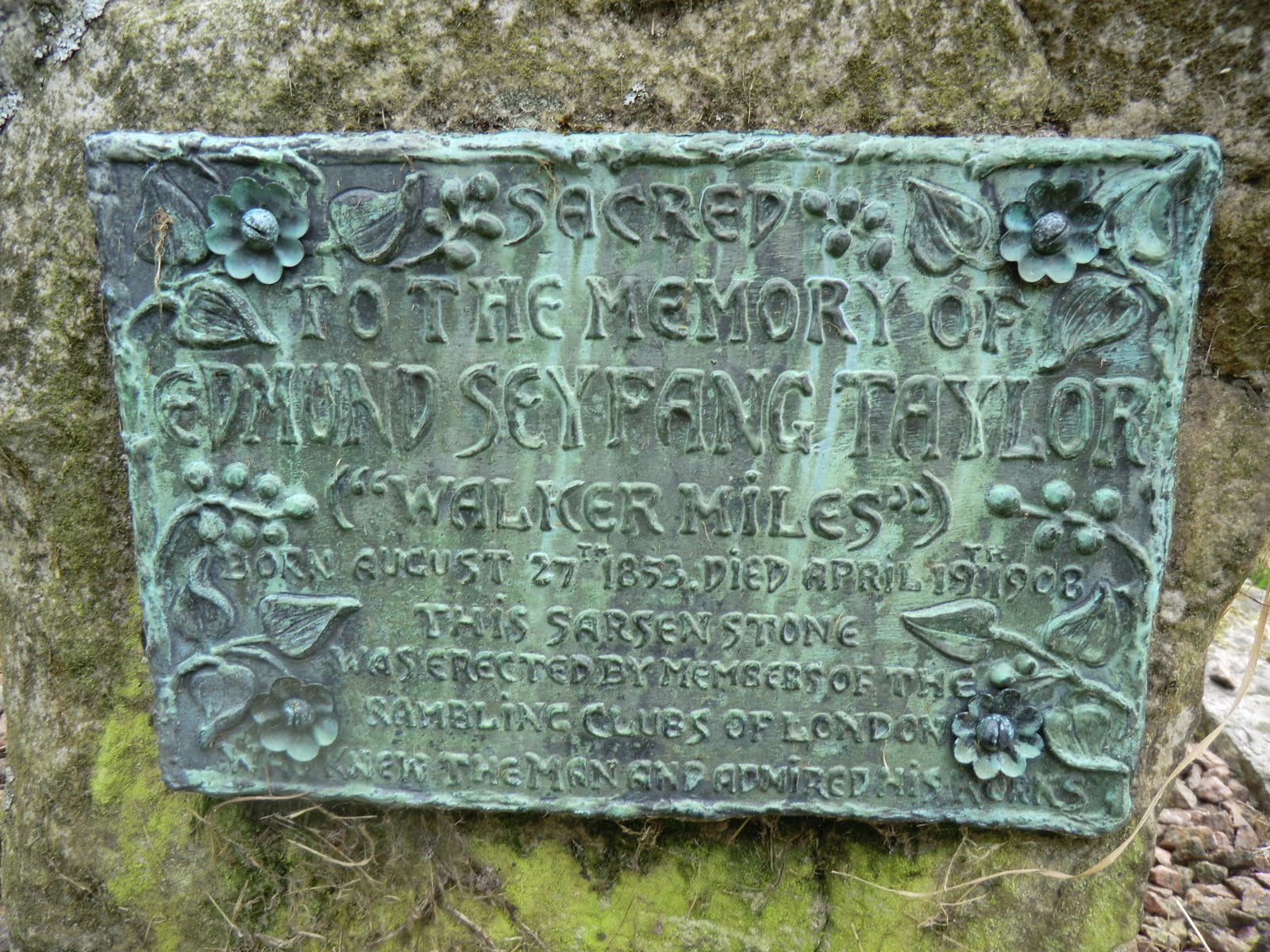 "CIMG4238 Memorial to ""Walker Miles"", St Nicholas' churchyard"