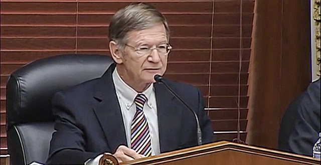 House Science, Space and Technology Chairman Lamar Smith (R-Texas) led a hearing on climate science, 29 March 2017. Photo U.S. House Science, Space and Technology Committee