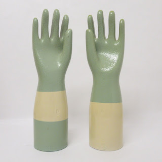 Hall Pottery Glove Mold Set of 2