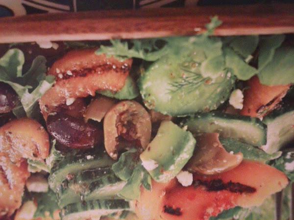 Mediterranean Grilled Peach And Feta Salad Recipe