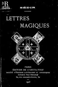 Cover of Paul Sedir's Book Lettres Magiques (1903,in French)