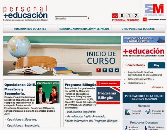El portal Personal + Educación se actualiza con nuevas funcionalidades y diseño