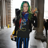 WWW.ENTSIMAGES.COM -   Chloe Norgaard    at      LFW Somerset House London September 14th 2013                                                  Photo Mobis Photos/OIC 0203 174 1069