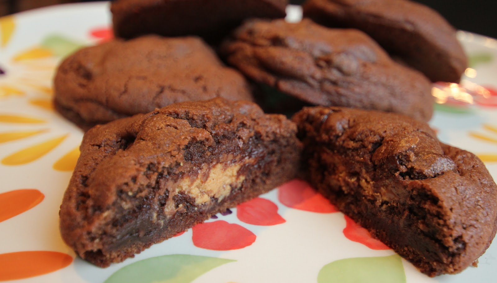 reese's peanut butter egg stuffed chocolate cookies