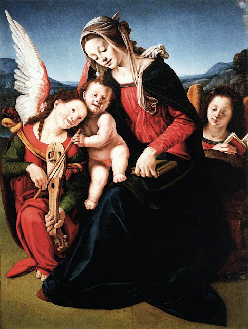 Piero di Cosimo - Virgin and Child with Two Angels