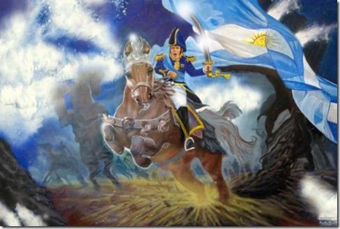 general san martin a caballo