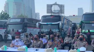 Hindari Pemeriksaan Dokumen, 36 Bus AKAP Diamankan Polisi