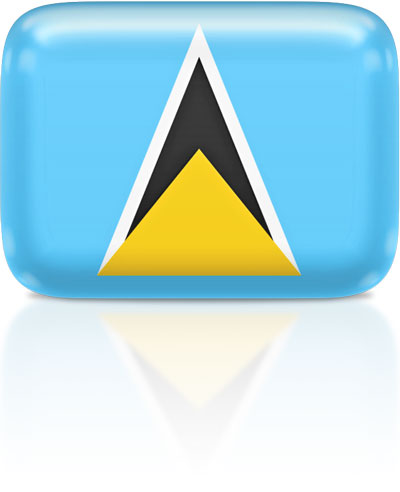 Saint Lucian flag clipart rectangular