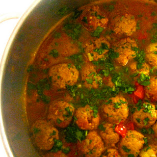 Spicy Moroccan Meatball Tagine.