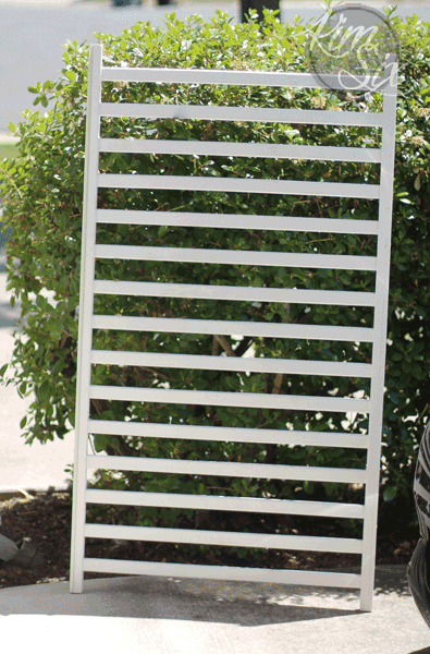 Old crib drop side upcycle