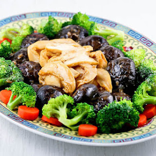 Braised Mushrooms and Abalone.