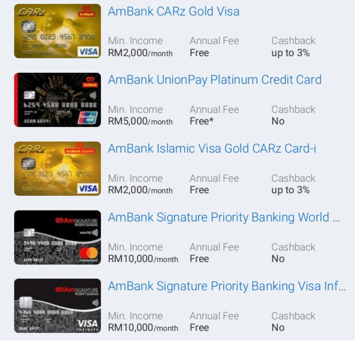 Kad Kredit AmBank Popular - Banding Dan Mohon Online