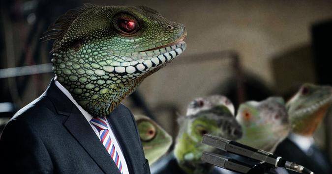 reptilianos estão