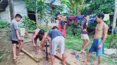 PT. Agro Andalan dan Warga Dusun Sungai Durian Bangun Sarana Air Bersih