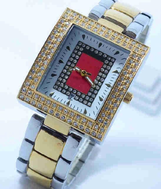 Jual Jam Tangan Richard mille date segi ring diamond combigold chain