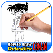 How to draw detective conan