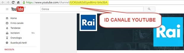 id-canale-youtube